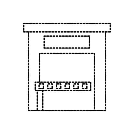 parkeren betaling station toegangscontrole concept vector illustratie