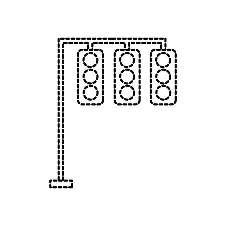 トラフィック ライト電気機器制御ベクトル図
