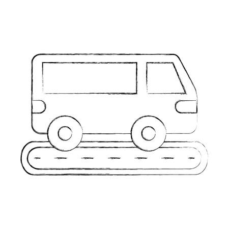 van auto straat transport voertuig wiel vectorillustratie