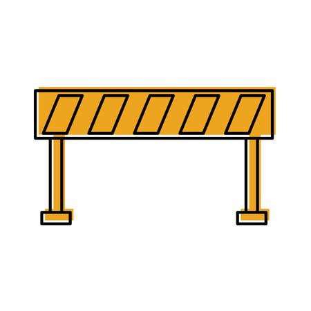 barrier traffic equipment warning caution vector illustration