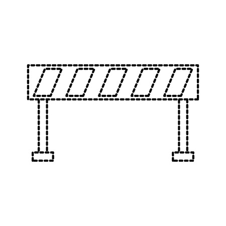 barrière verkeer apparatuur waarschuwing voorzichtigheid vectorillustratie
