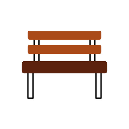 rusty background: bench park rest comfort chair decoration vector illustration Illustration