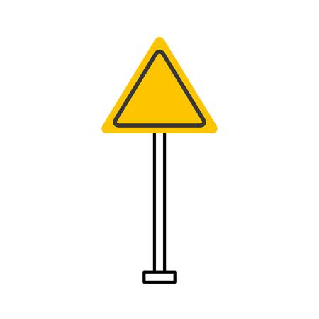 Señal de advertencia advertencia atención ilustración de vector en blanco Foto de archivo - 85823281