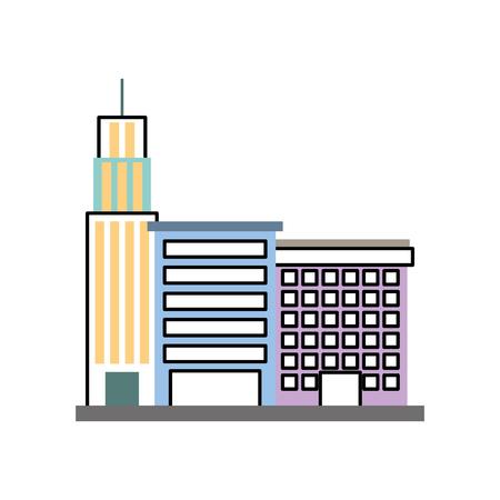 Stadtgebäudegeschäftseigenschaftsarchitektur moderne Vektorillustration Standard-Bild - 85823291