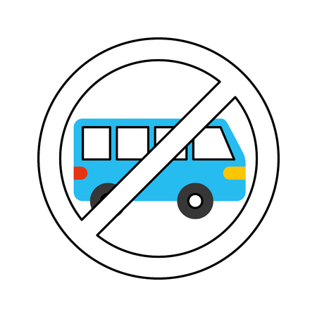 car isolated: no car or no parking sign prohibit traffic transport vector illustration Illustration