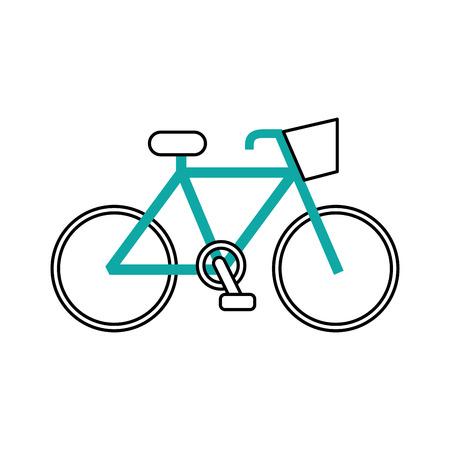 自転車輸送エコロジー車両 伝統的なベクトルイラスト