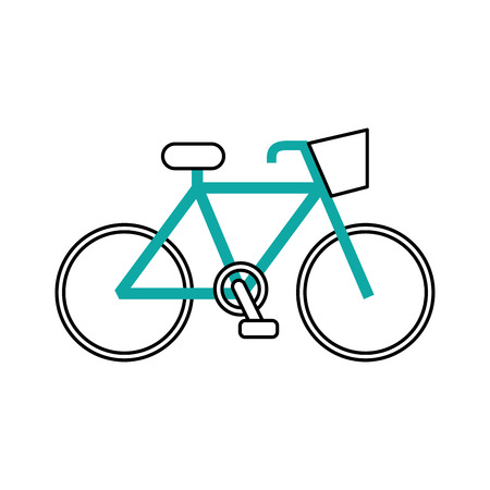 bicycle transport ecology vehicle traditional vector illustration 向量圖像