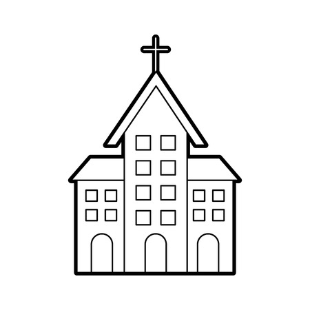 church building christian religion architecture vector illustration Stok Fotoğraf - 85823312