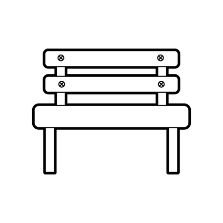 bench park rest comfort chair decoration vector illustration Illusztráció