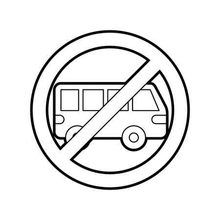 no car or no parking sign prohibit traffic transport vector illustration Illustration