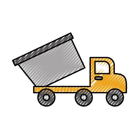 kipper vrachtwagen constructie los materiaal vector illustratie Stock Illustratie