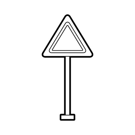 traffic signal warning caution attention blank vector illustration