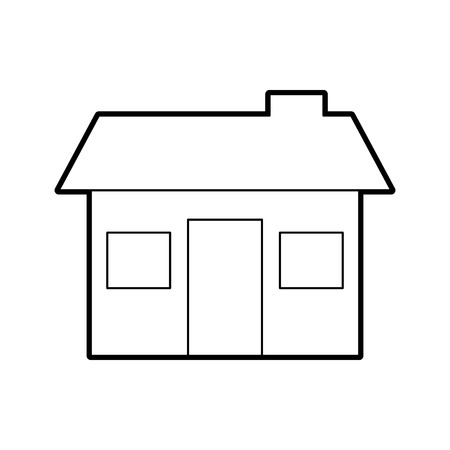 house structure real estate property residential with chimney vector illustration