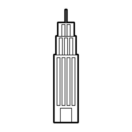 ビルタワー高層ビルコマーシャルビジネスベクターイラスト