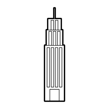 building tower skyscraper commercial business vector illustration