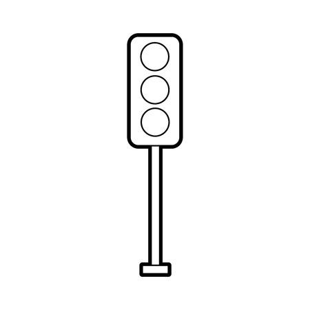 traffic lights electric equipment control vector illustration Stock fotó - 85823330