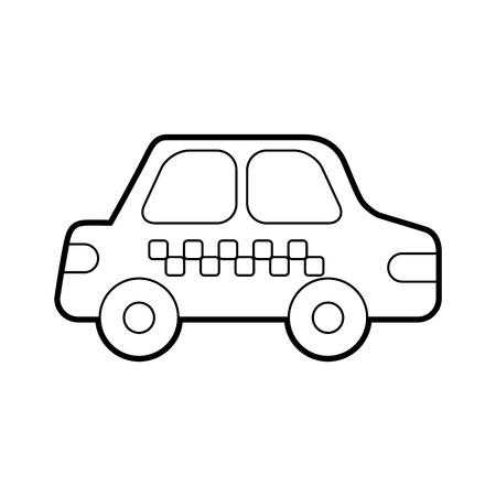 taxi autovervoer publieke dienst stadsvoertuig vector illustratie