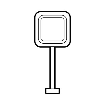 광장 신호 트래픽주의 방법 거리 벡터 일러스트 레이션