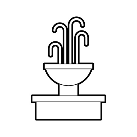 fontein met water splash element vector illustratie