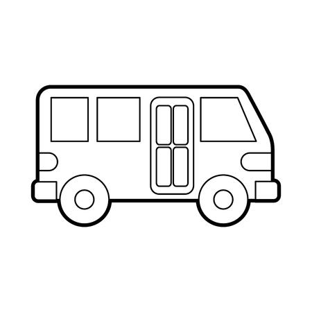 bus vervoer service openbare stedelijke voertuig vectorillustratie