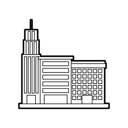 Stadtgebäudegeschäftseigenschaftsarchitektur moderne Vektorillustration Standard-Bild - 85823354