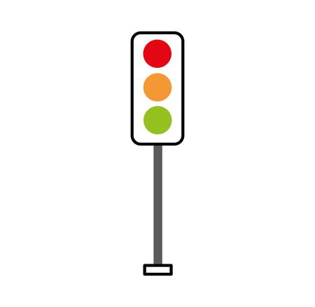 verkeerslichten elektrische apparatuur controle vectorillustratie