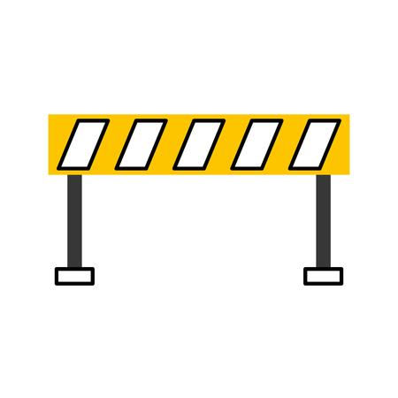 バリア交通機器警告注意ベクトルイラスト  イラスト・ベクター素材
