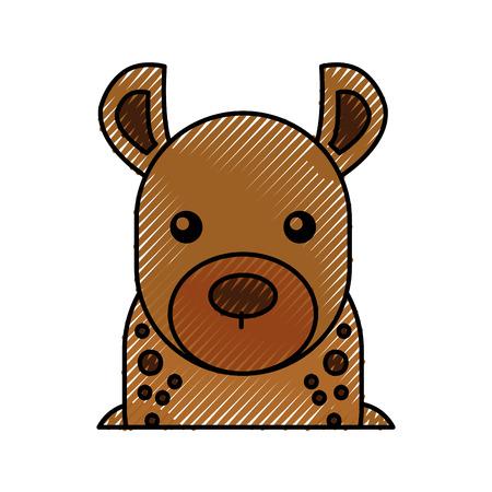 cute cartoon hyena wild animal image vector illustration