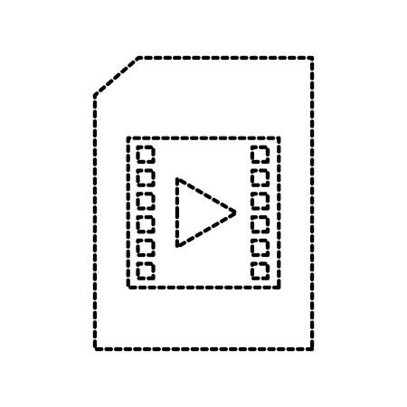 mpg: document file movie film player online digital vector illustration Illustration