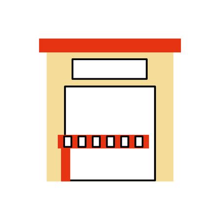建物外部駐車サービスパブリックベクトルイラストレーション