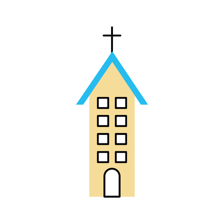 church building christian religion architecture vector illustration Stok Fotoğraf - 85823400