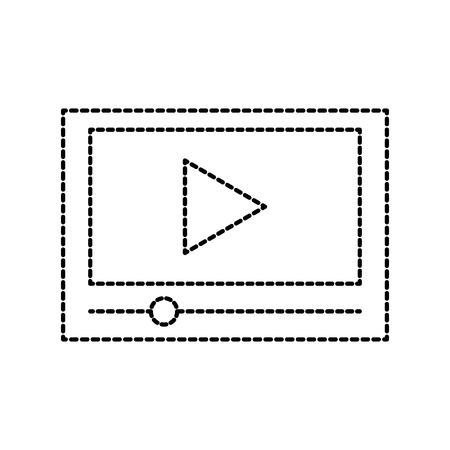 テーブル技術ムービー再生ボタンオンラインベクトルイラスト  イラスト・ベクター素材