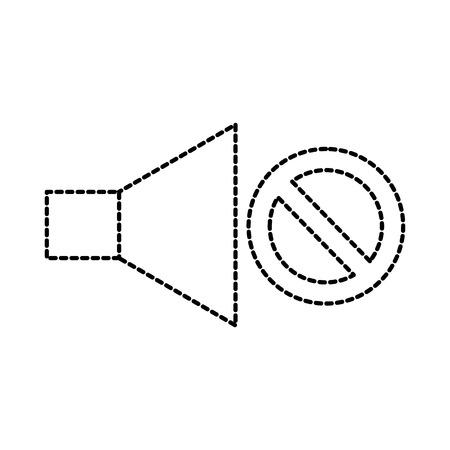 no volume sound speaker mute symbol vector illustration