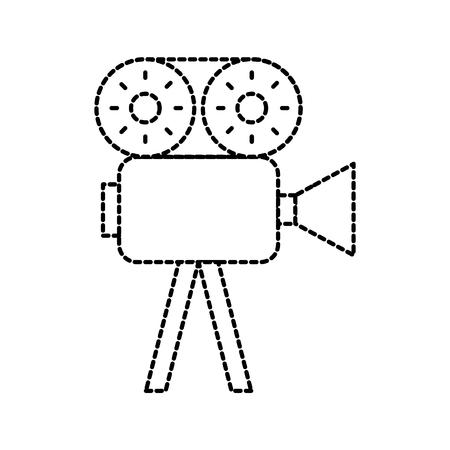 film camera recorder movie reel tape vector illustration