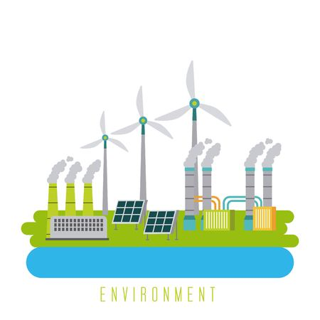 environment energy ecology green sustainable vector illustration 向量圖像