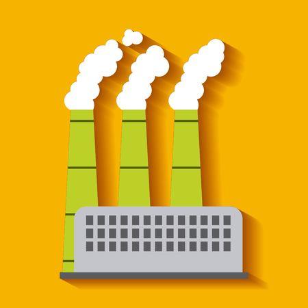 공장 건물 녹색 에너지 제조 및 생산 벡터 일러스트 레이 션 일러스트