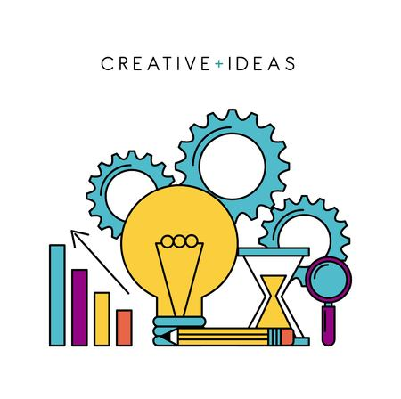 creative ideas business knowledge work solution science vector illustration