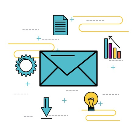 message email nevelope business idea solution vector illustration