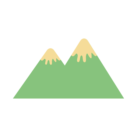 mountain peak nature snow camp icon vector illustration Ilustracja