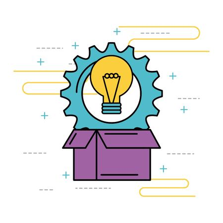 idea creativity innovation solution work concept vector illustration