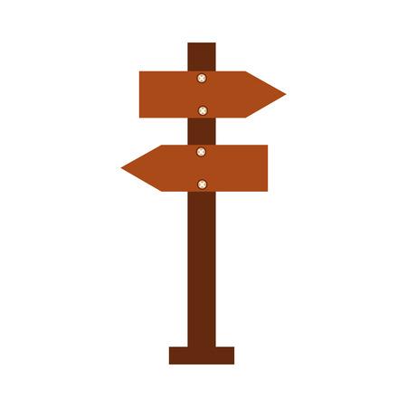 木製空警告標識基板のベクトル図