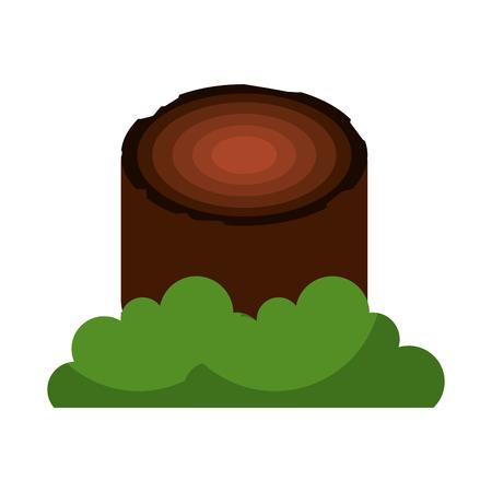 Holz Camping Material Holz Brennholz Stumpf Vektor-Illustration Standard-Bild - 86002448