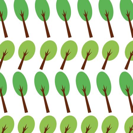 フォレスト ツリー紅葉自然のシームレスなパターン画像ベクトル図