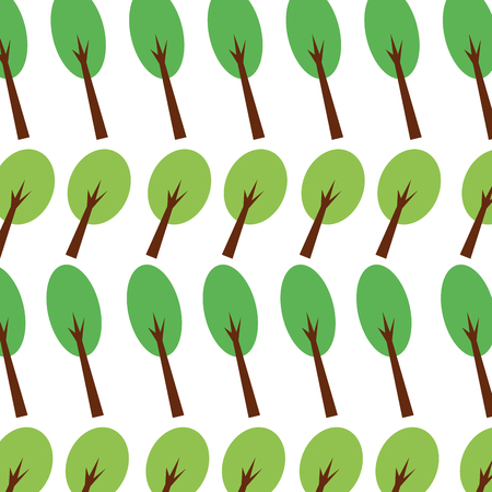 숲 나무 단풍 자연 원활한 패턴 이미지 벡터 일러스트 레이션