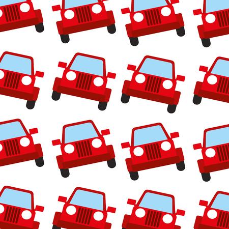 ジープ車旅行交通機関のシームレスなパターン画像ベクトル イラスト