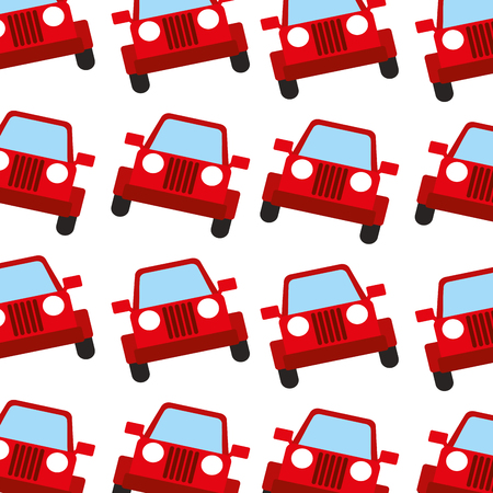 jeep car travel transport seamless pattern image vector illustration