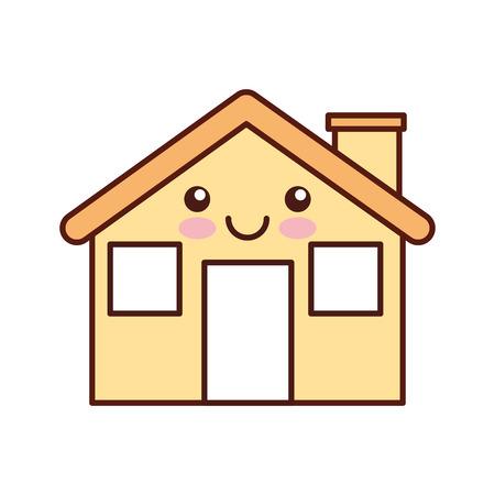 cartoon cabin house chimney comic vector illustration Illustration