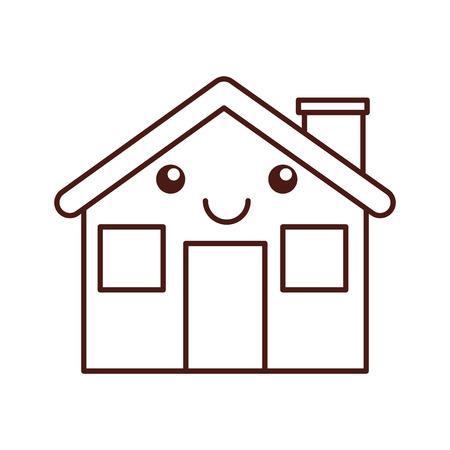 漫画小屋家煙突漫画のベクトル図  イラスト・ベクター素材