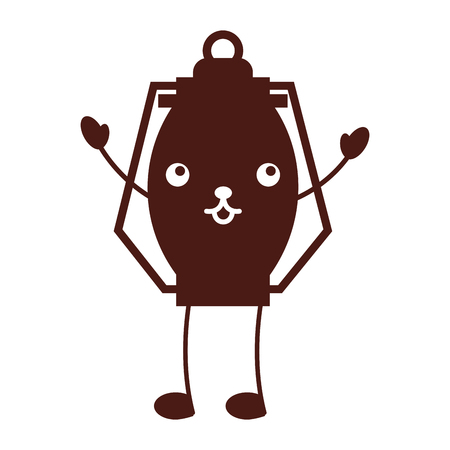 Kawaii Kerosinlampe camping Cartoon Vektor-Illustration Standard-Bild - 86002537