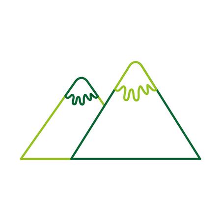 berg piek natuur sneeuw kamp pictogram vectorillustratie